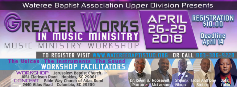 Greater Works Music Ministry Workshop - April 26-29